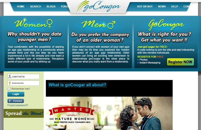 Go-Cougar - Cougar Dating Sites - DatingFoo