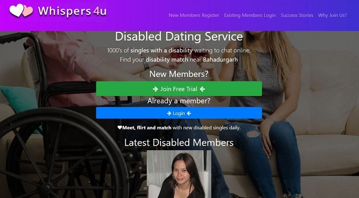 Whispers4U - Dating Sites for Disabled Seniors