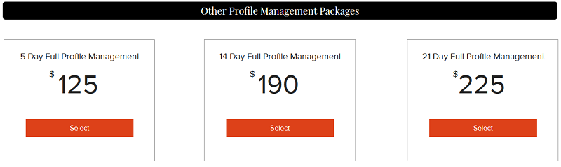 RandaWoo Profile Management Packages